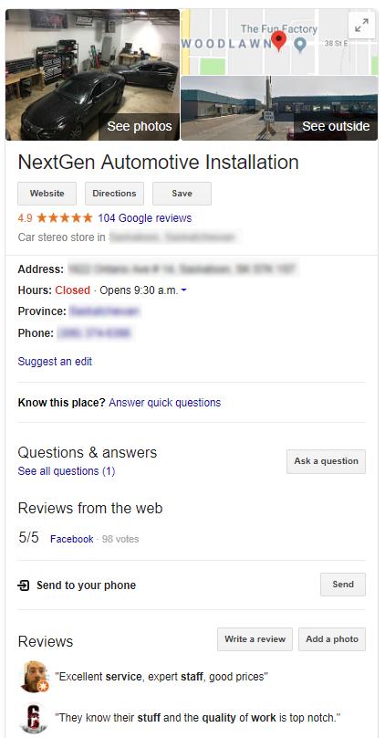Google My Business Listing for Brand Awareness